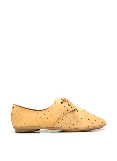 Lets Dance Perforated Jazz Flats SAND