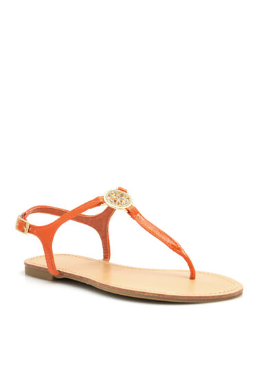 Good Luck Charm Sandals ORANGE