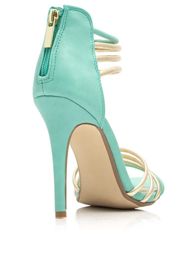 Talk Metallic To Me Heels MINT
