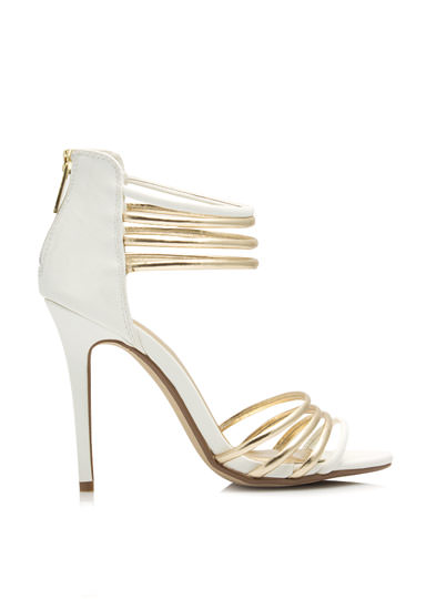 Talk Metallic To Me Heels WHITE