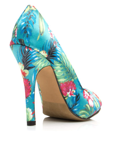 Tropical Zone Peep-Toe Heels BLUE