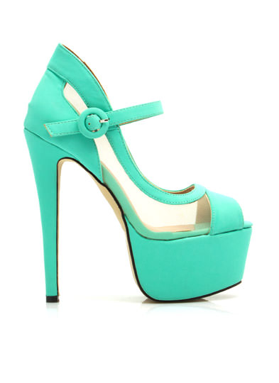 Hot Mesh Mary Jane Platforms MINT