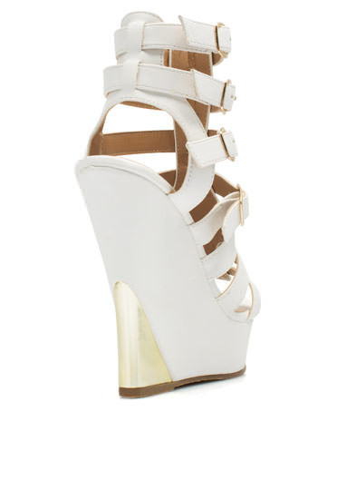 Time To Reflect Metal Wedges WHITE