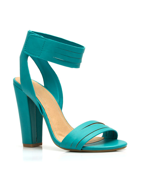 Slitting Pretty Strappy Heels SEAFOAM