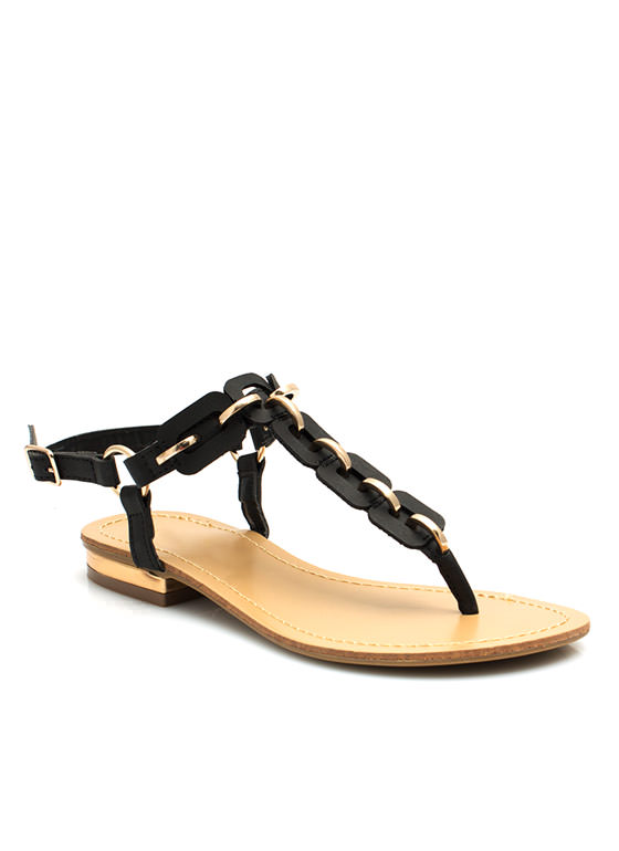 Link To Love You Sandals BLACK