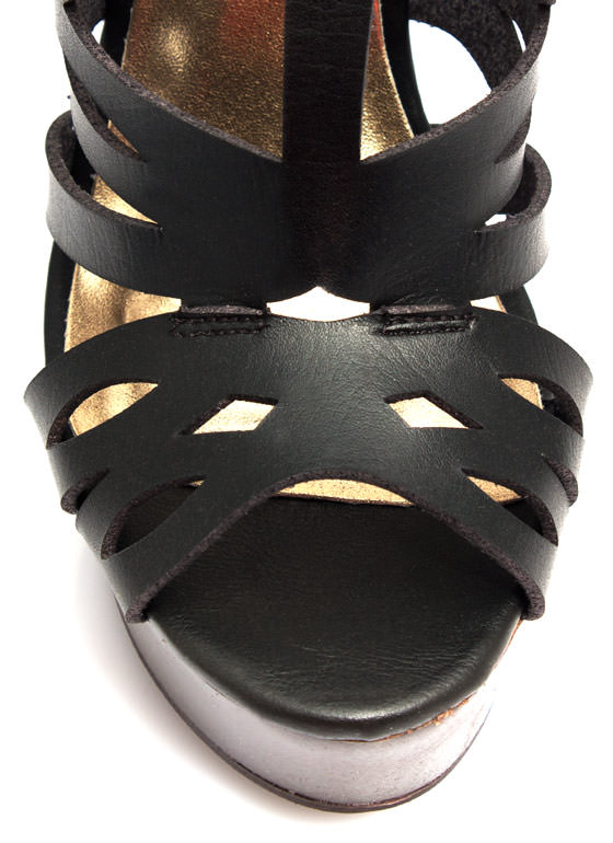 Geometric Play Cut-Out Wedges BLACK