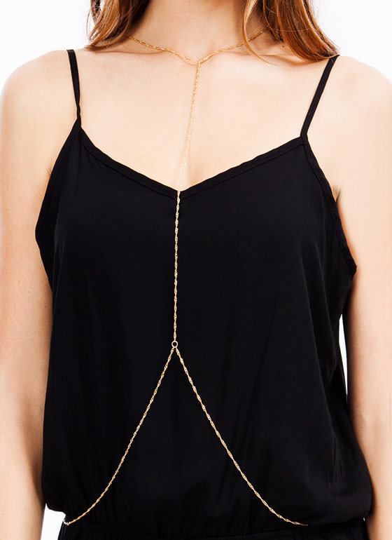 All Twisted Up Body Chain GOLD