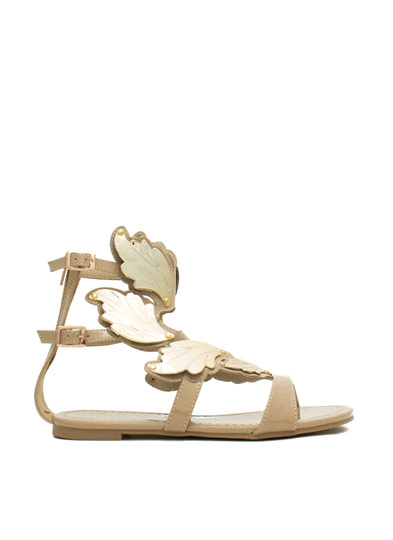 Sprout Wings Strappy Plated Sandals NUDE