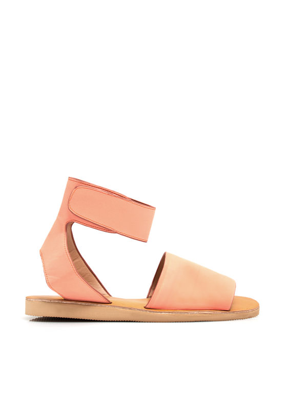 Smooth Sailing Ankle Cuff Sandals PEACH