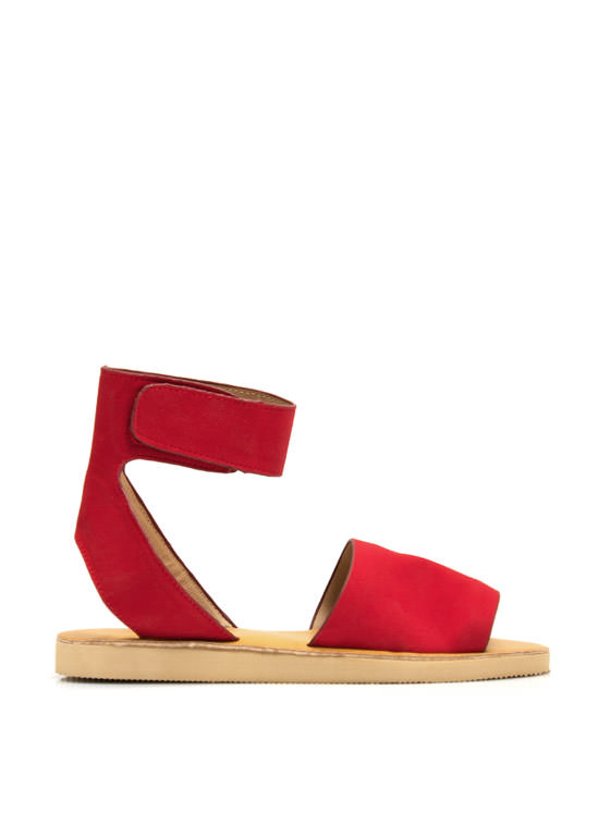Smooth Sailing Ankle Cuff Sandals RED