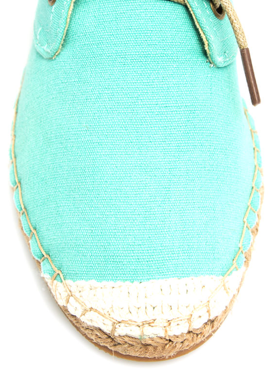 On Your Toes Oxford Espadrille Flats MINT