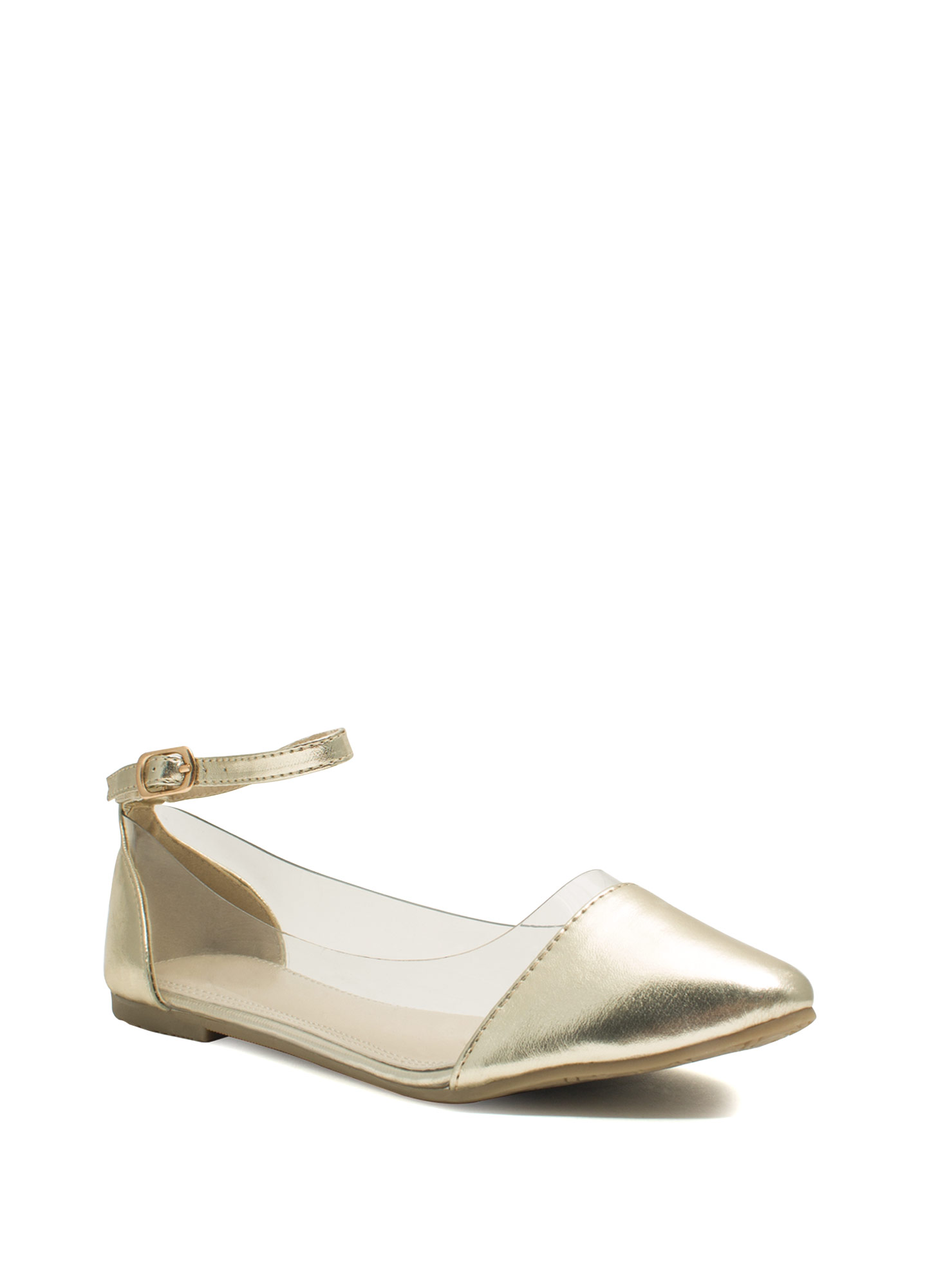 Cap Toe Illusion Flats GOLD