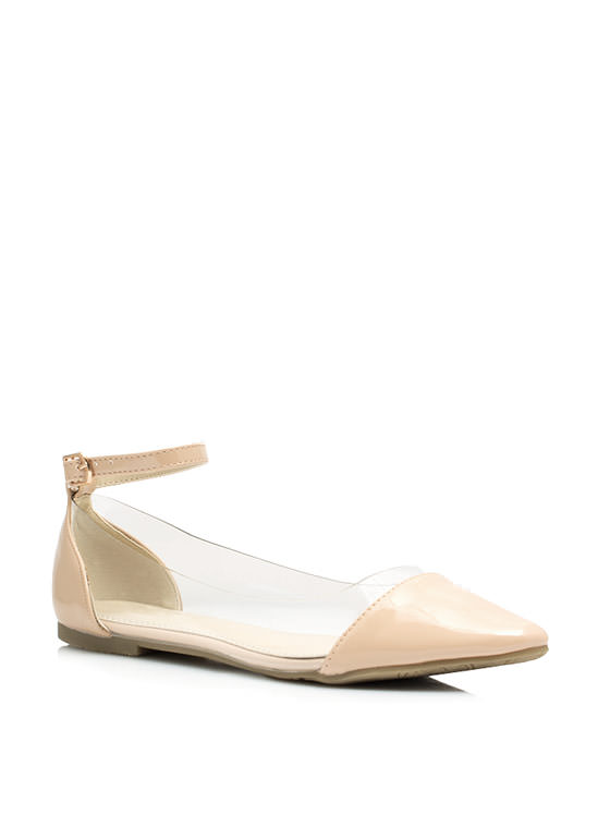 Cap Toe Illusion Flats NUDE