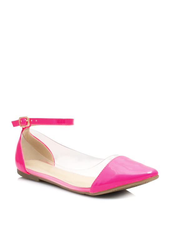 Cap Toe Illusion Flats PINK