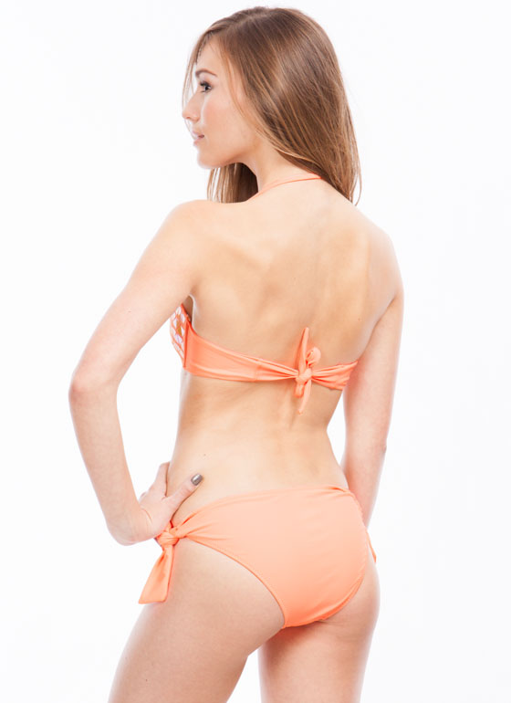 Talk Of The Tropics Bikini Set PEACH