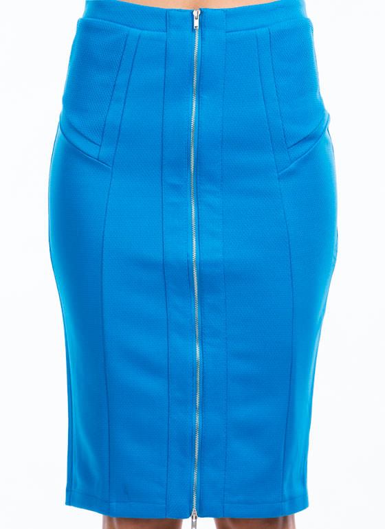 Expose Yourself Midi Skirt BLUE