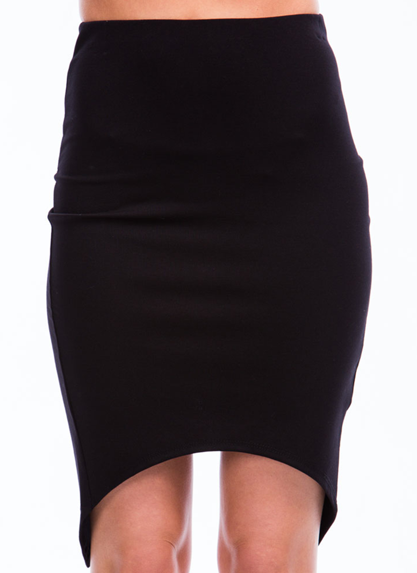 X Factor Surplice Back Pencil Skirt BLACK