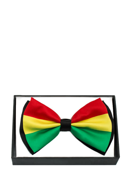 Rastafarian Colors Bowtie REDGREEN