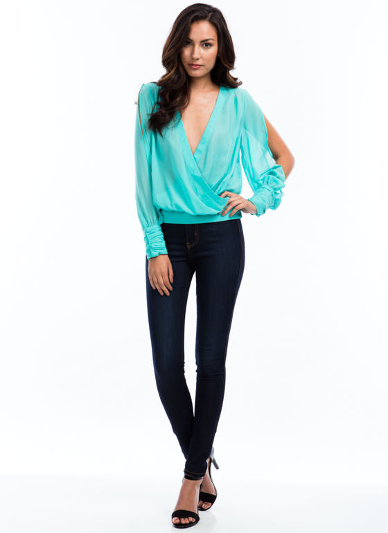 Surplice Pintuck Top MINT