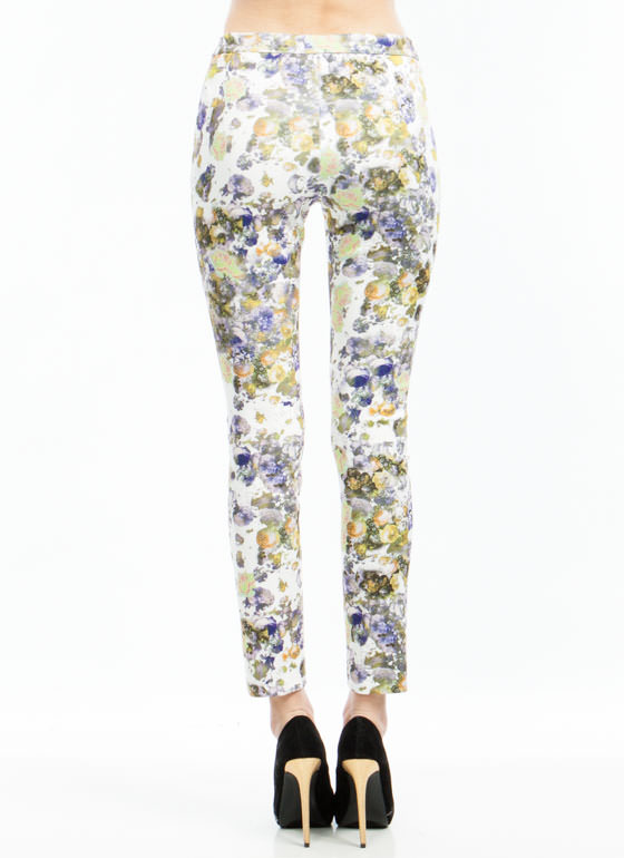 Digital Floral Print Trousers LAVENDER