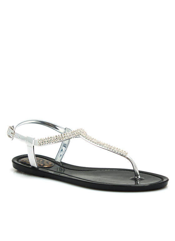 Glitz N Glimmer Jelly Sandals BLACK