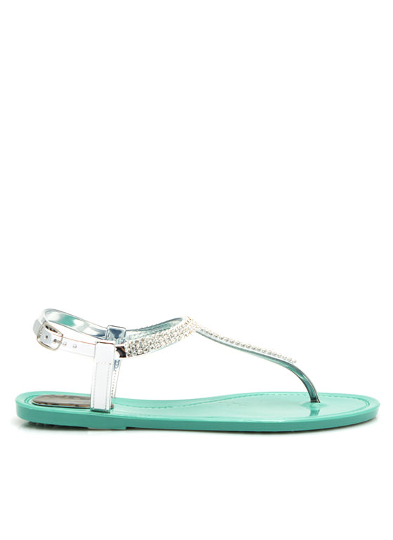 Glitz N Glimmer Jelly Sandals MINT