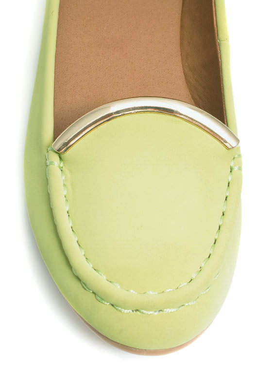 Touch Of Metallic Loafers LEMONLIME
