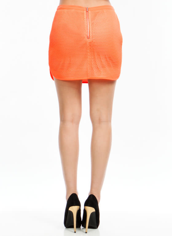 Catch Of The Day Skirt NEONORANGE