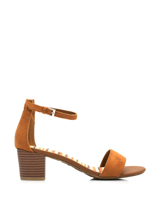 Single Girl Chunky Heels CHESTNUT
