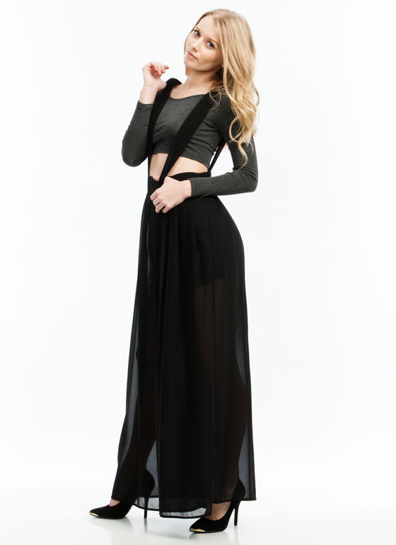Wide Open Spaces Palazzo Jumper BLACK
