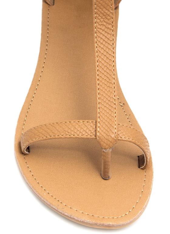 Keep Your Guard Up Sandals CAMEL