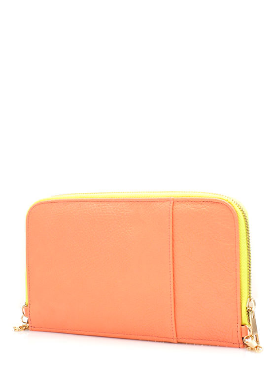 Two-Tone Wallet Clutch CORAL