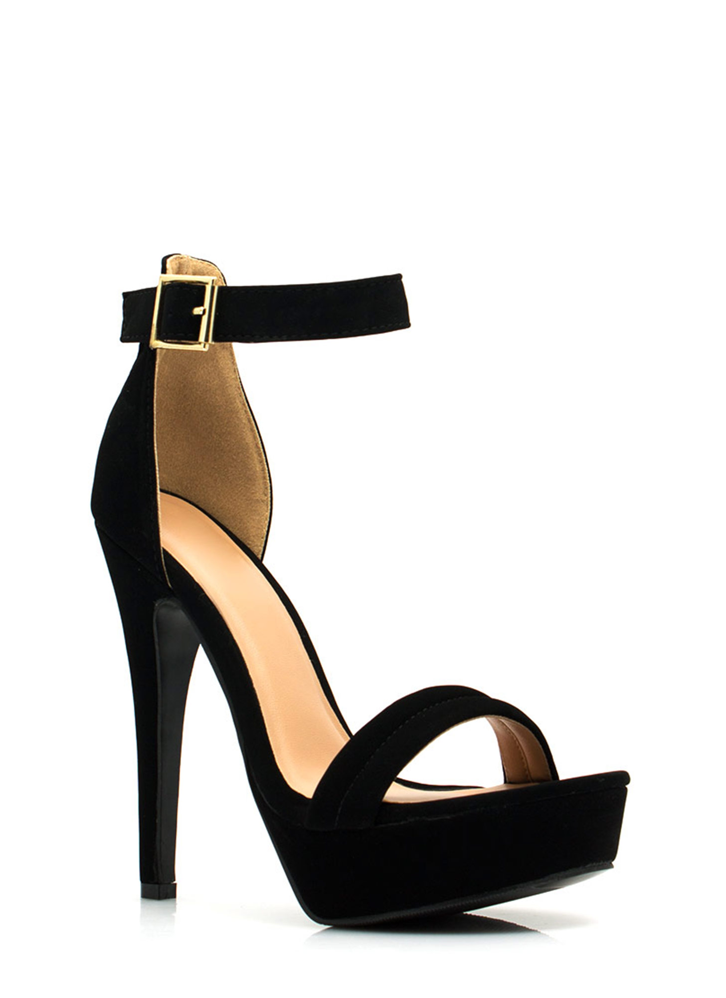 Barely There Platform Heels BLACK