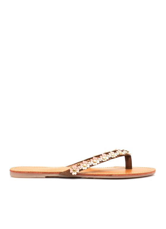 Petal to the Medal Thong Sandals ROSE