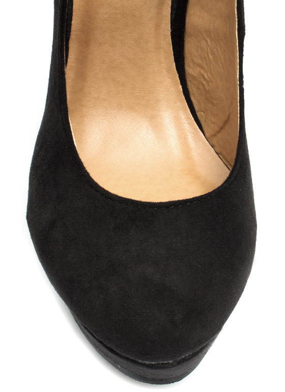 Timeless Mary Jane Wedges BLACK
