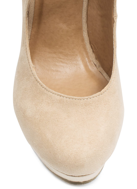 Timeless Mary Jane Wedges NATURAL