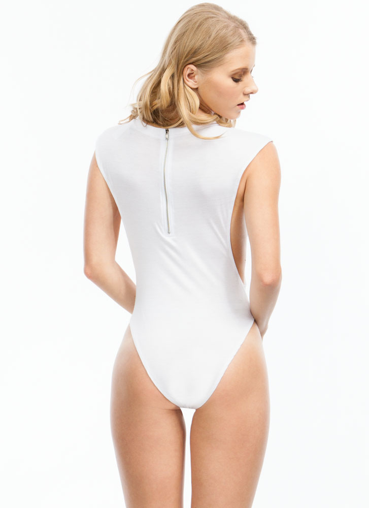 Basic Muscle Bodysuit WHITE