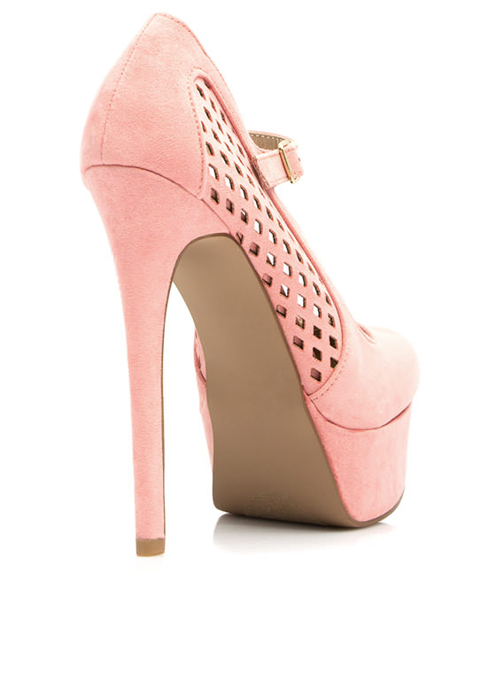 Lattice Rejoice Mary Jane Platforms SALMON