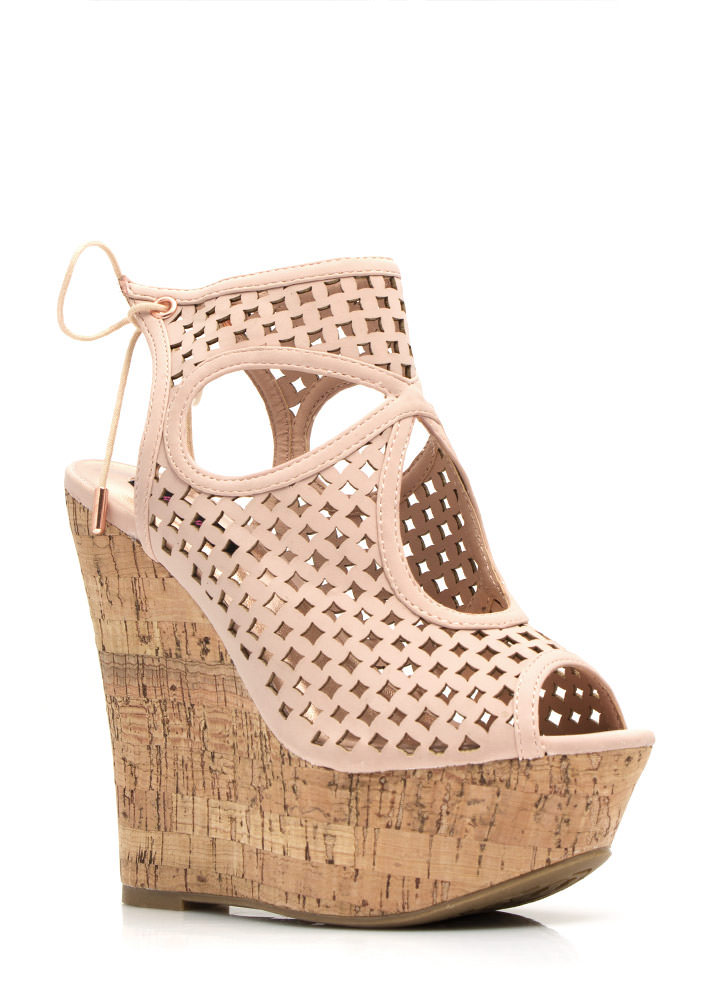 Diamond Perfection Cut-Out Wedges ROSE