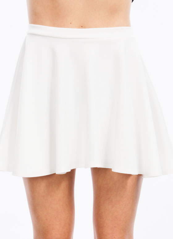 Let's Play Flare Skater Skirt IVORY