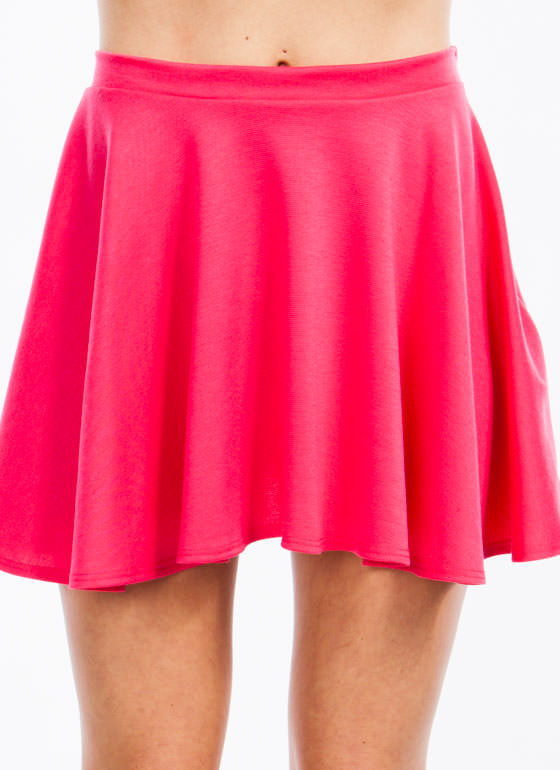Let's Play Flare Skater Skirt PINK