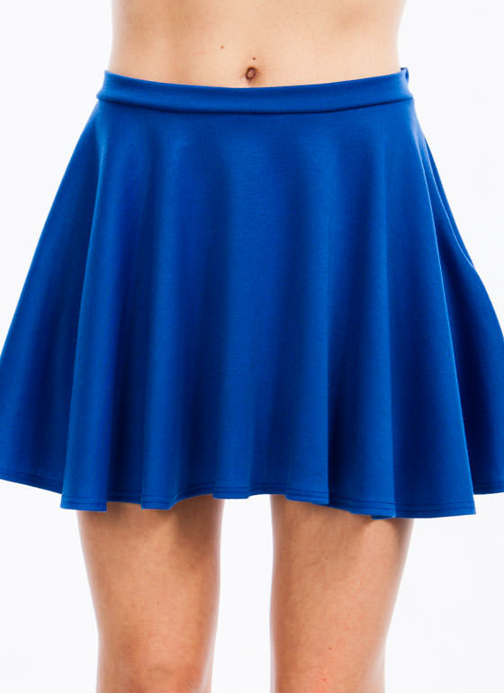 Let's Play Flare Skater Skirt ROYAL