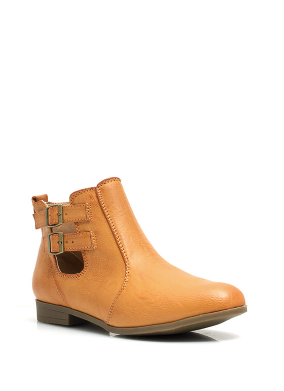 All Play And No Work Booties CHESTNUT