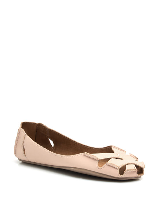 Crisscross It Off Flats ROSE