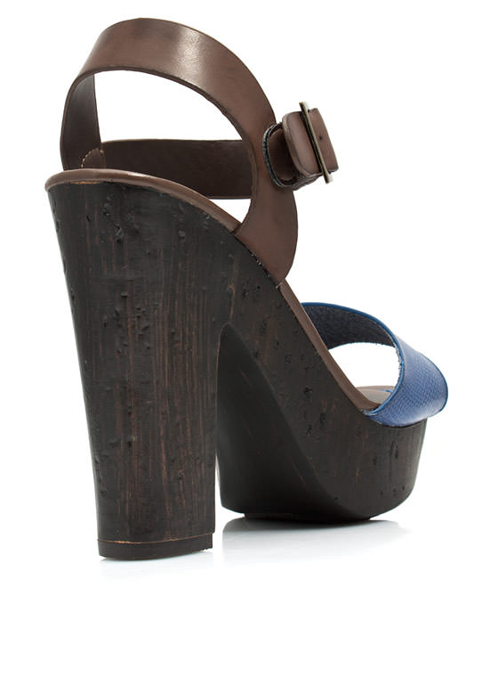 Hi Scale Chunky Faux Wood Platforms BLUE