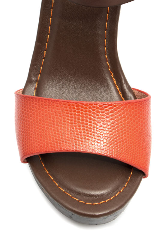 Hi Scale Chunky Faux Wood Platforms ORANGE