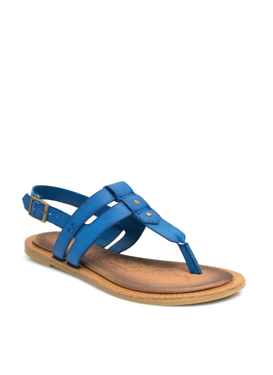 Double The Love T-Strap Sandals BLUE