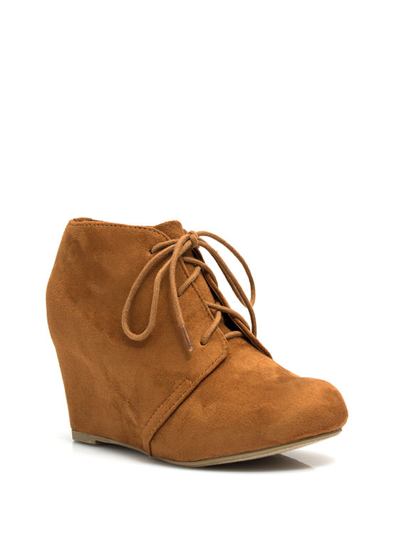 Living On The Wedge Booties LTHAZELNUT