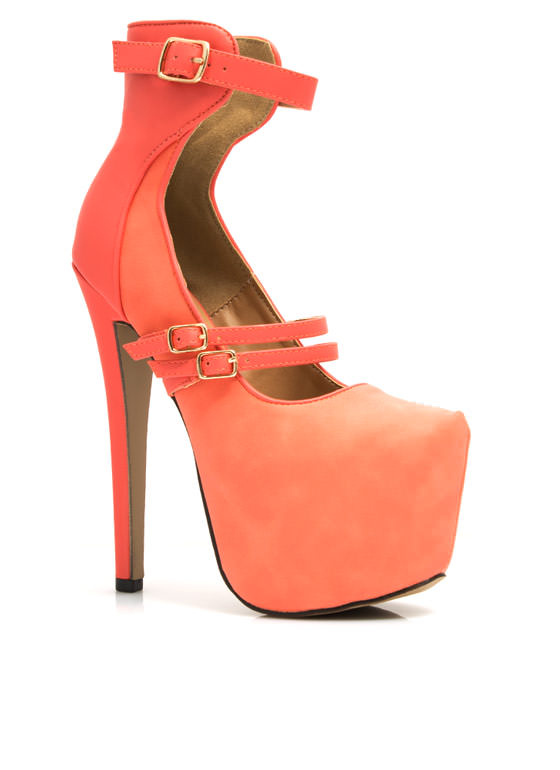 Mixer-Upper Ankle Harness Platforms CORAL