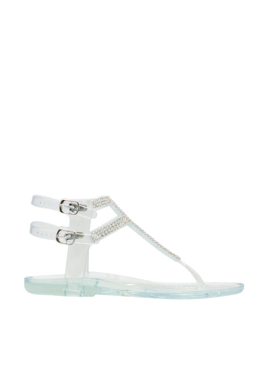Glitz N Glimmer Jelly Sandals CLEAR